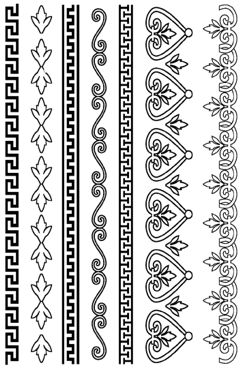 Greek Deco Borders Rubber Stamp Set