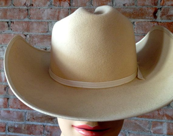 Mens White Calgary Stampede Wool Felted Cowboy Hat by TheJavaShop, $55.00