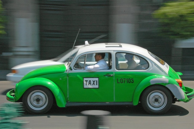 Mexico City: You can still find the original VW Beetle being pressed into service on the streets of Mexico City.