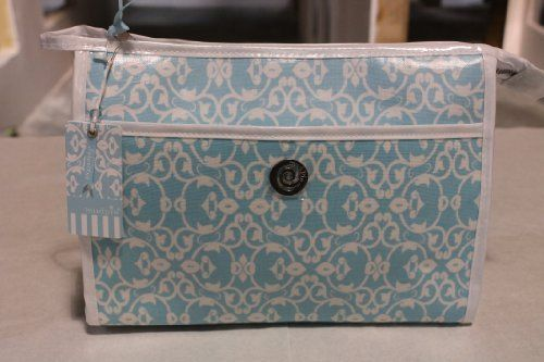Blue Damask Jet Setter Cosmetic Case by Mud Pie. $25.00. * Wipe clean interior * Includes snap off case that meets airline regulations for carry-on toiletries