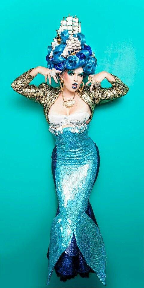 Ben De La Creme... Unbelievable outfit! Mermaid / Ocean / Fish Inspiration