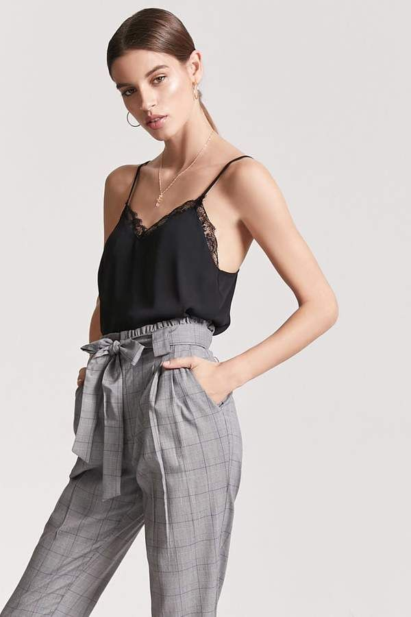 77a86c13bd98 FOREVER 21 Glen Plaid Paperbag Pants | *** Outfit Ideas*** in 2019 ...