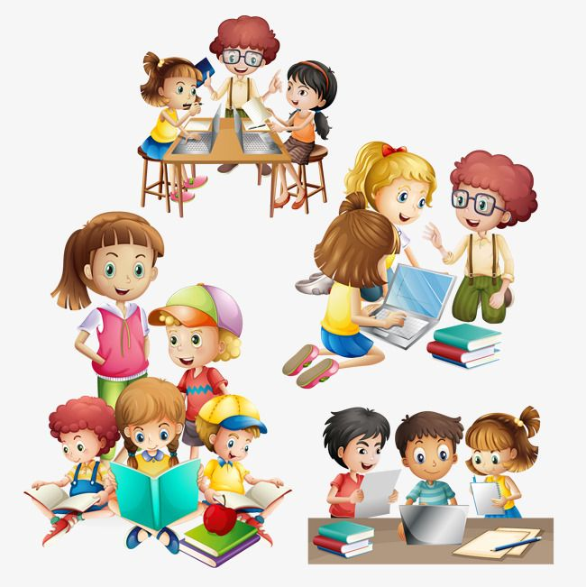 Vector Many Kids Do Different Activities Kids Clipart Student