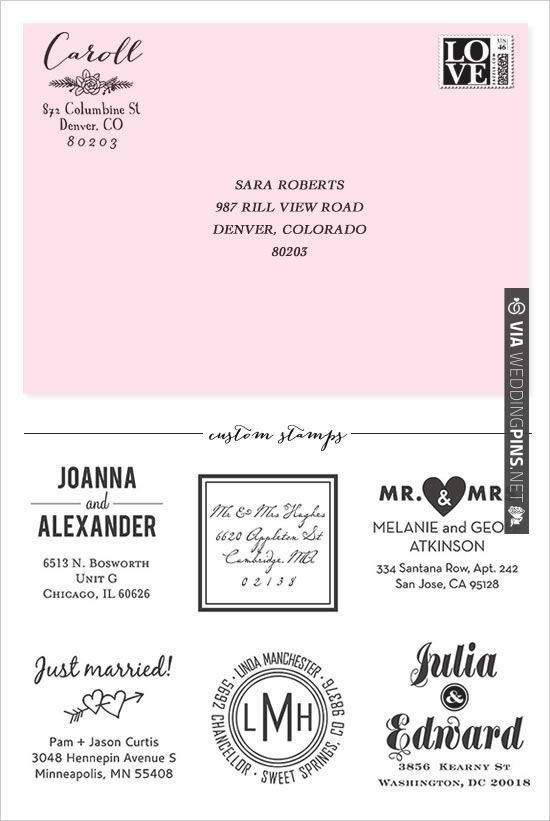 custom stamps | CHECK OUT MORE IDEAS AT WEDDINGPINS.NET | #weddings #weddinginspiration #inspirational