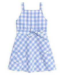 Brooks Brothers Kids Sleeveless Oxford Check Dress