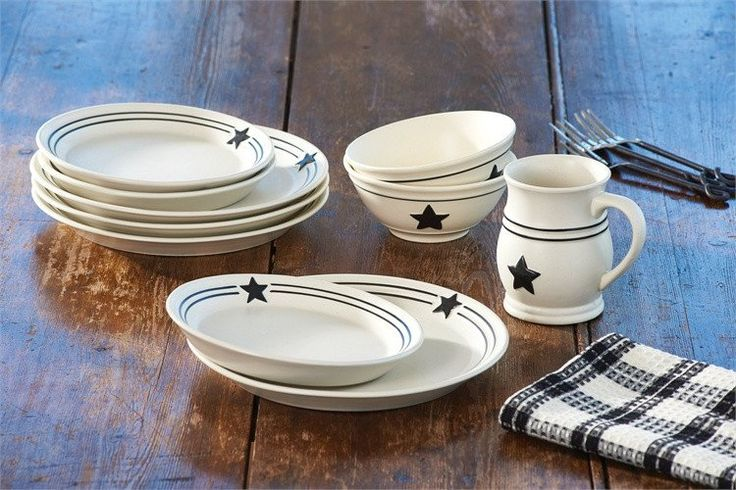 Country Star Dinnerware 16pc. Set - The Country Star Dinnerware Collection provide that farmhouse feel so perfect for today's casual lifestyle. This simple yet