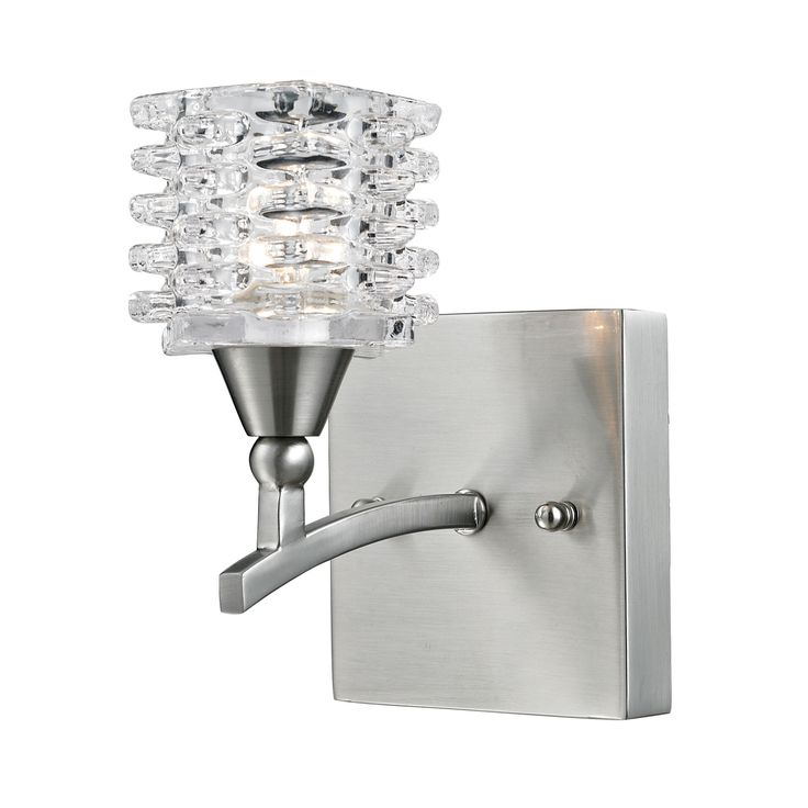 Matrix 1 Light Vanity In Satin Nickel And Clear Glass