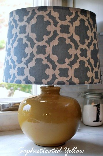 This is the easiest DIY for making a fabric lampshade that I have found.
