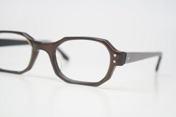 Vintage Eyewear Retro Eyeglass Frames Brown vintage glasses frames NOS Deadstock Vintage Eyeglasses on Etsy, $54.00