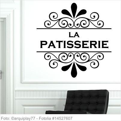 Möbeltattoo - La Patisserie mit Ornament Shabby Chic