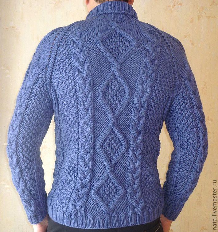 свитер мужской  с косами Василек
