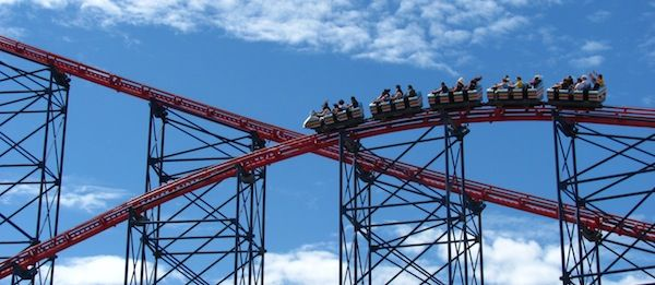 Blackpool Pleasure Beach - one of the great places to visit on a summer beach weekend in Britain.  http://www.aboutbritain.com/articles/summer-beach-weekends.asp