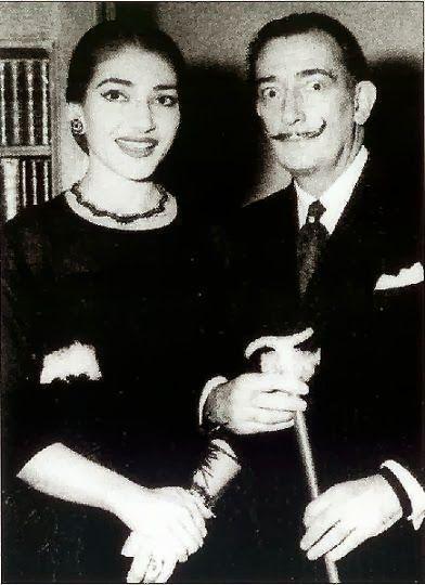 Maria callas and salvador Dalí