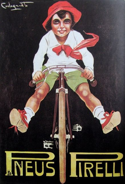 Vintage Bicycle Posters: Pneus Pirelli, via Flickr. bicycles