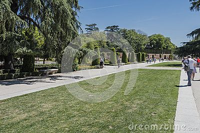 Park Buen-Retiro, int he center of  Madrid, Spain. Europe.