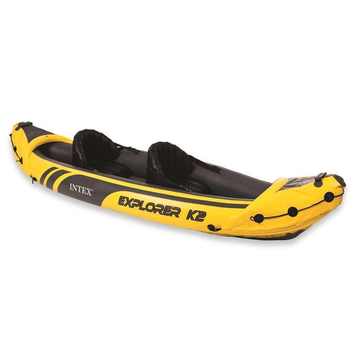Canoa gonfiabile facile da trasportare, resistente ad urti e raggi solari, ideale per gli amanti dell'avventura e per chi non rinuncia allo sport neanche d'estate!  Shop online ➡️ https://goo.gl/dfJoCz #canoa #canoagonfiabile #intex #explorerk2 #sport #estate summer #sea #kayak #inflatable