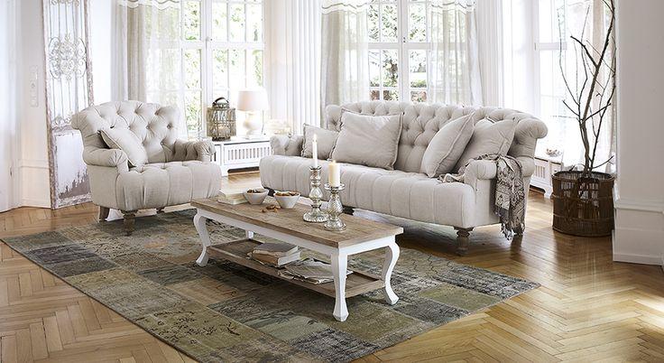 Sofa mit Sessel Springfield Village #Wohnzimmer #loberon
