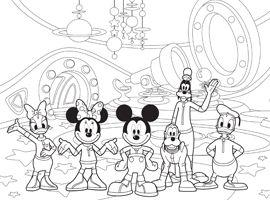 Disney Junior   Udskriv og farvelæg - Mickeys Klubhus