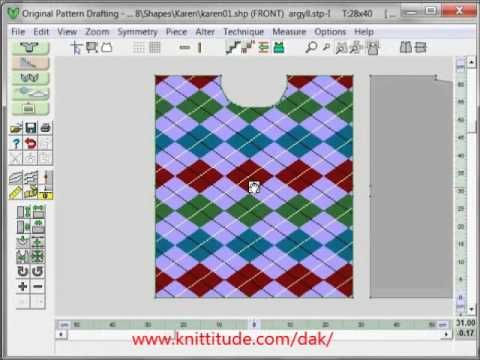 DesignaKnit 8 Original Pattern Tutorial - Layout Your Stitch Pattern Directly In Original Pattern Drafting