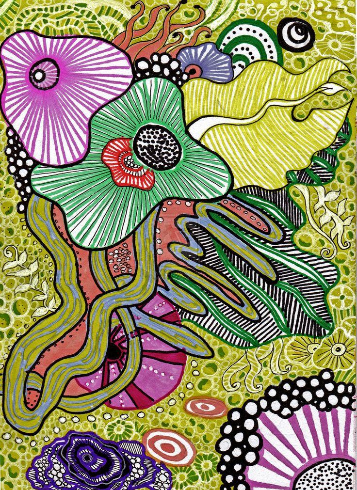 sketch sea flowers by m0onwitch.deviantart.com on @deviantART - Pattern study