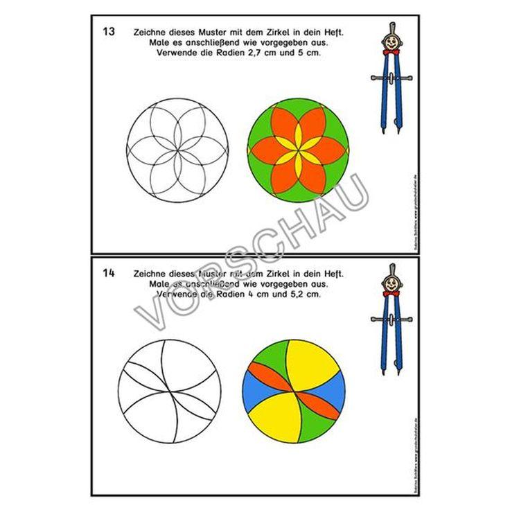 Zeichnen Mit Zirkel Und Geodreieck In 2020 Zirkel Geodreieck Zeichnen