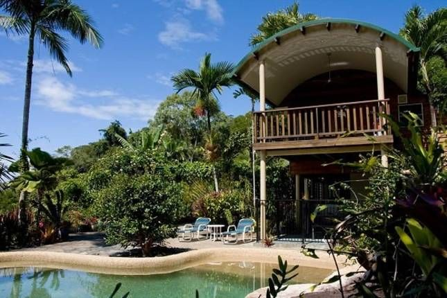 Private Getaway - Rocky Point, a Daintree House | Stayz(5nites) 4 acres gardens. Ocean views 30 mis to port d and 20 mins to Daintree.