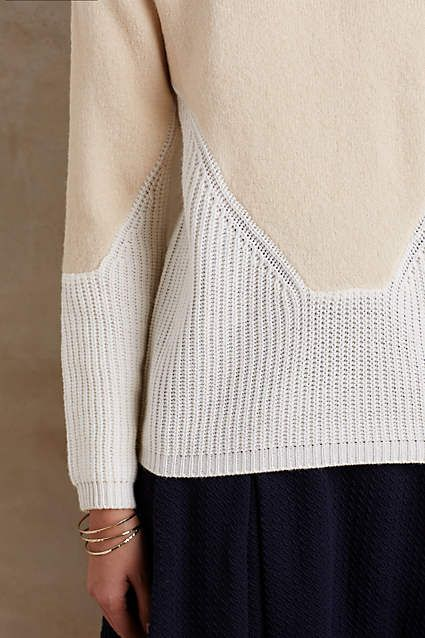 Anthropologie EU Paonia Colourblock Pullover by La Fee Verte. French for 'the green fairy', La Fee Verte's luxurious and romantic designs belie their primary goal: comfort. Simply put, they are dainty where you want it, stretchy when you need it and uniquely French.