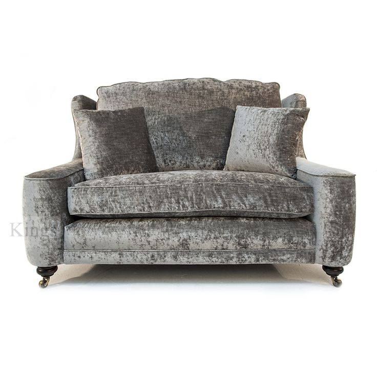 #johnsankey #sofa in velvet gunmetal http://www.kingsinteriors.co.uk/