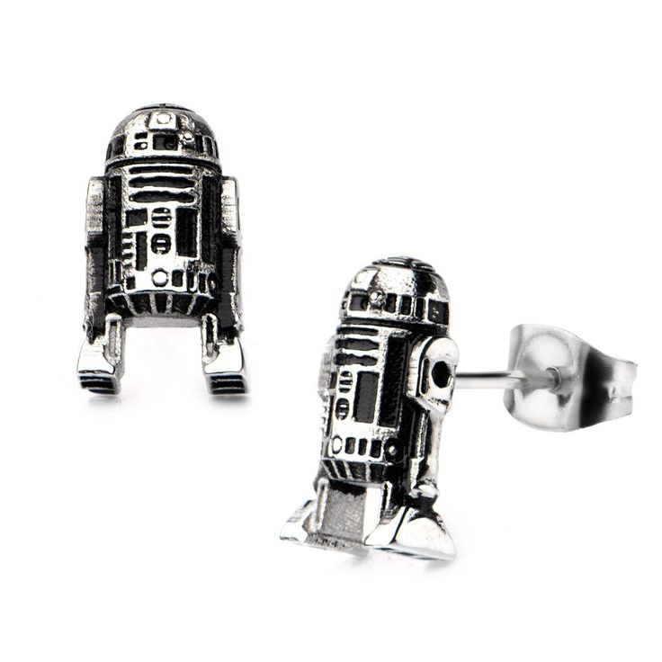 PRODUCT DESCRIPTION: 3D R2D2 Stud Earrings ready and reporting for duty. Now available in 316 Stainless Steel, these little droids are prefect for any Star Wars fan looking for a fun, new look. All of