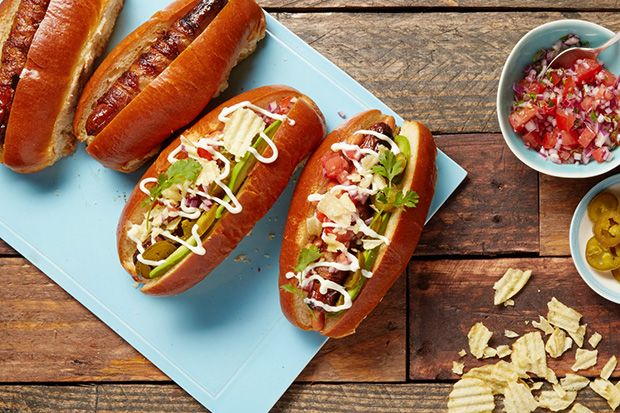 Find the recipe for Sonoran Hot Dogs with Bacon, Pico de Gallo, and Avocado and other beef recipes at Epicurious.com