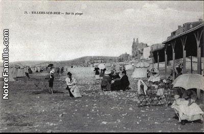 Cartes Postales Villers-sur-Mer beach Normandy http://www.normandythenandnow.com/monsters-villers-sur-mer/