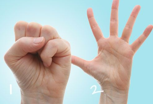 Hand and finger exercises can help strengthen your hands and fingers, increase your range of motion, and give you pain relief. Stretch only until you feel tightness. You shouldn't feel pain.