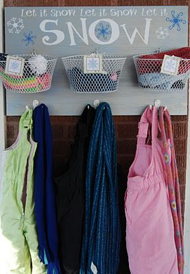 Must Do!  Winter catch all ~ could store in warm months and bring out for winter?