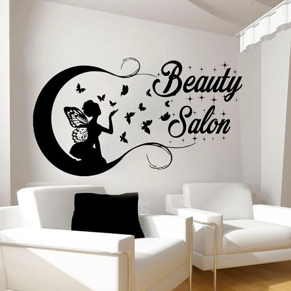 beauty salon wall stickers decal hairdressing salon decor. Black Bedroom Furniture Sets. Home Design Ideas