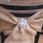 burlap bow for wedding chairs