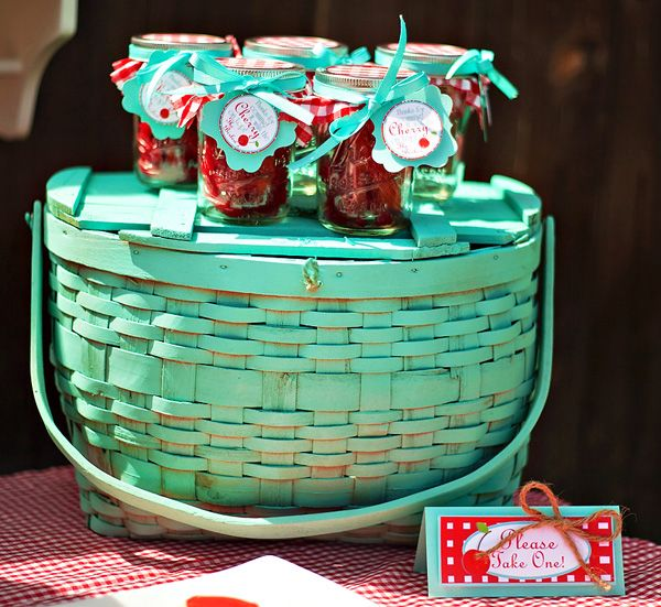 "Darling ""Cherry On Top"" Party {Red Gingham & Teal} // Hostess with the Mostess®"