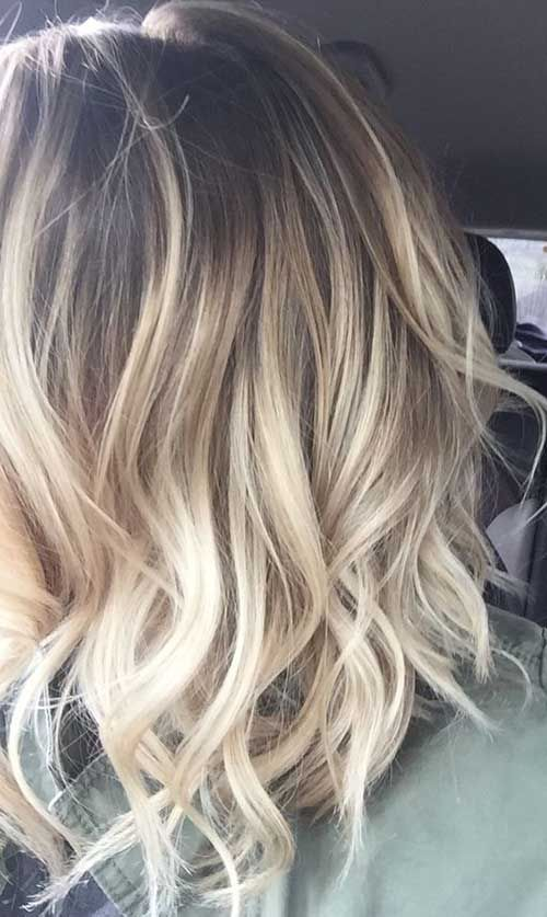 cabelo loiro alisado retocado
