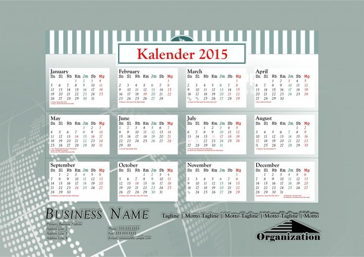 Kalender 2015 Indonesia - Design_26_Marquee