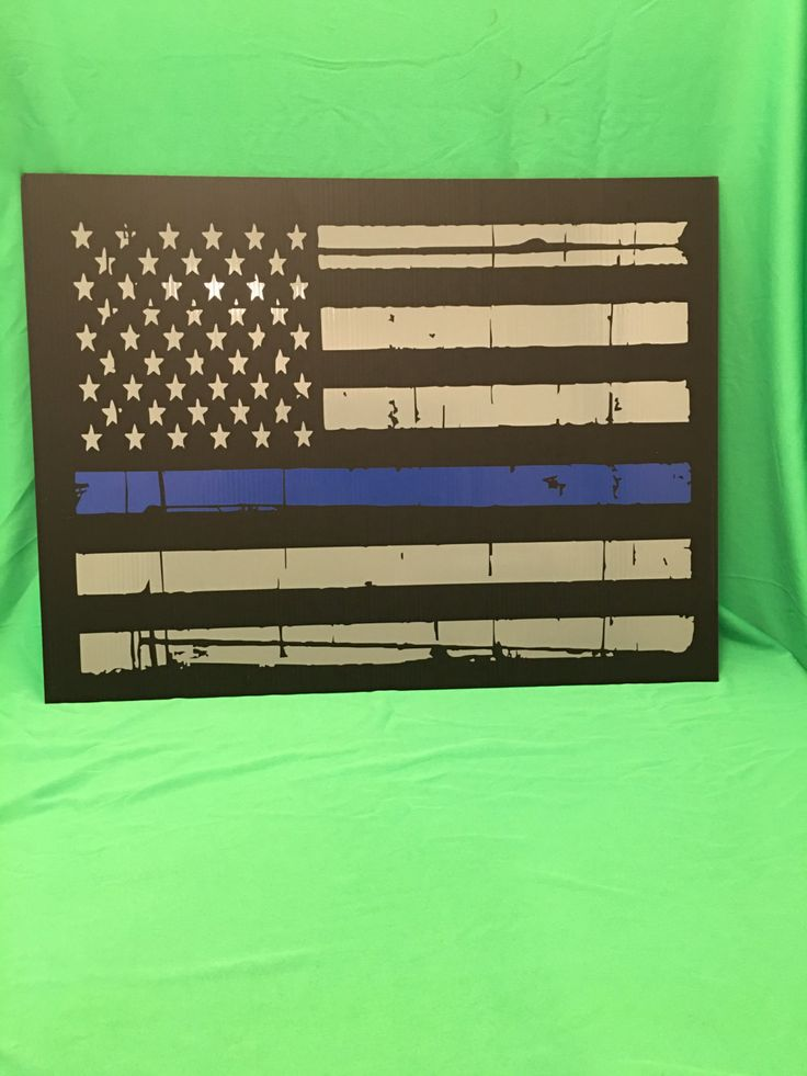 Custom thin blue line yard sign, police yard sign, custom sign, thin blue line, custom wall sign, police wall sign, distressed flag, police by IdahoEmbroidery on Etsy