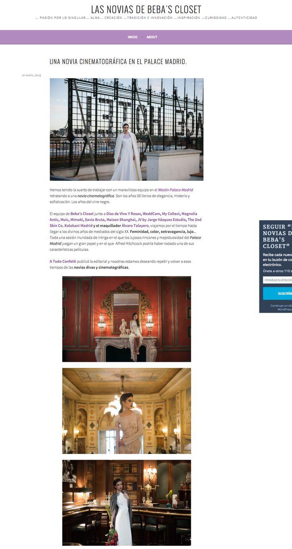 Featured in Beba's Closet blog || https://lasnoviasdebebascloset.wordpress.com/2015/01/21/novia-cinematografica-en-el-palace-madrid/
