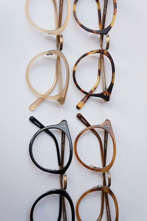 Tortoise shell glasses.