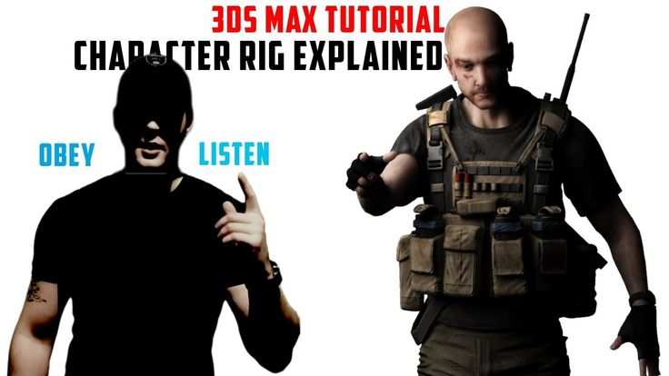 3ds Max TUTORIAL - Character Rigging, Skin modifier Explained