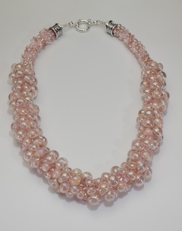 Art bead Kumihimo necklace