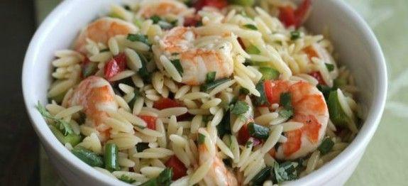 Salade d'orzo aux crevettes