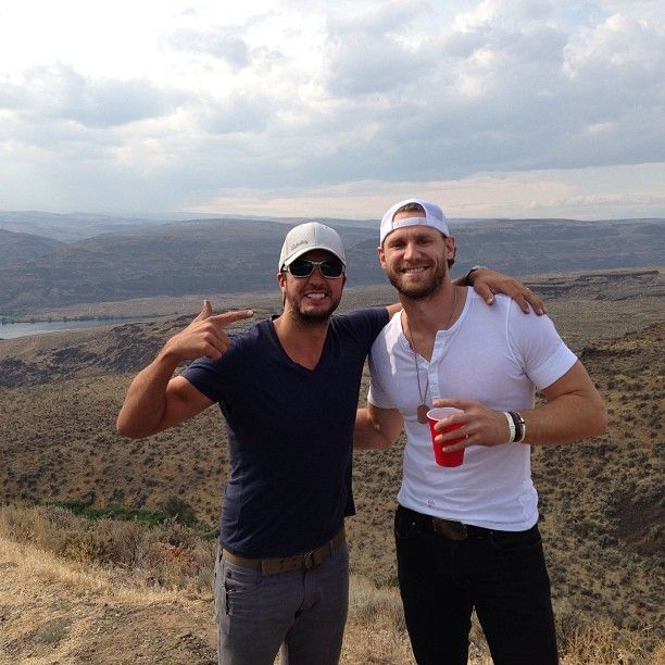 2 of my favorite boys<3 (Luke Bryan & Chase Rice) - AND it looks like this was taken at Watershed '13 just a couple days ago. Wahoo!!