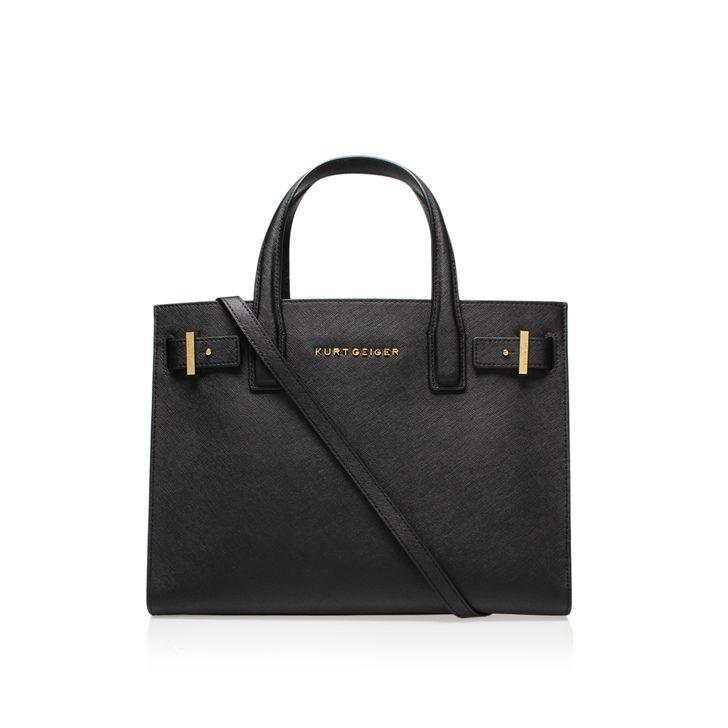 Saffiano London Tote Black Saffiano London Tote Bag By Kurt Geiger London | Kurt…