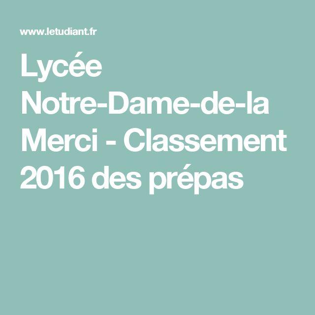 Lycée Notre-Dame-de-la Merci - Classement 2016 des prépas