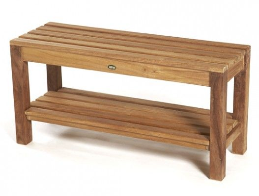 large shower bench