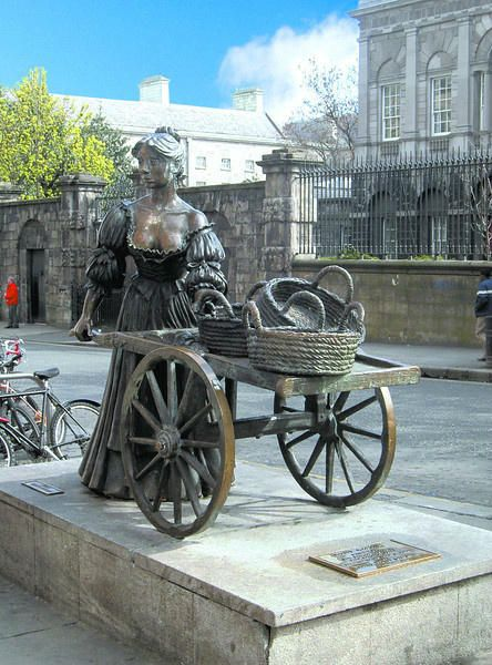 The famous Molly Malone Statue in Dublin. Why not visit it on a CIE Coach Tour of Ireland.