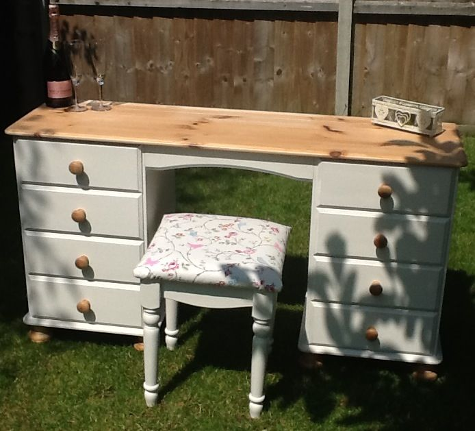 Beautiful shabby chic dressing table and stool